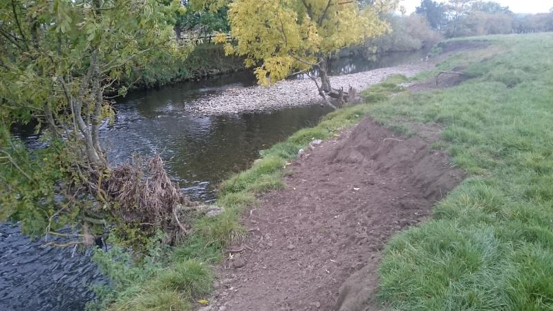 river Aire, erosion, buffer strip, land use, management