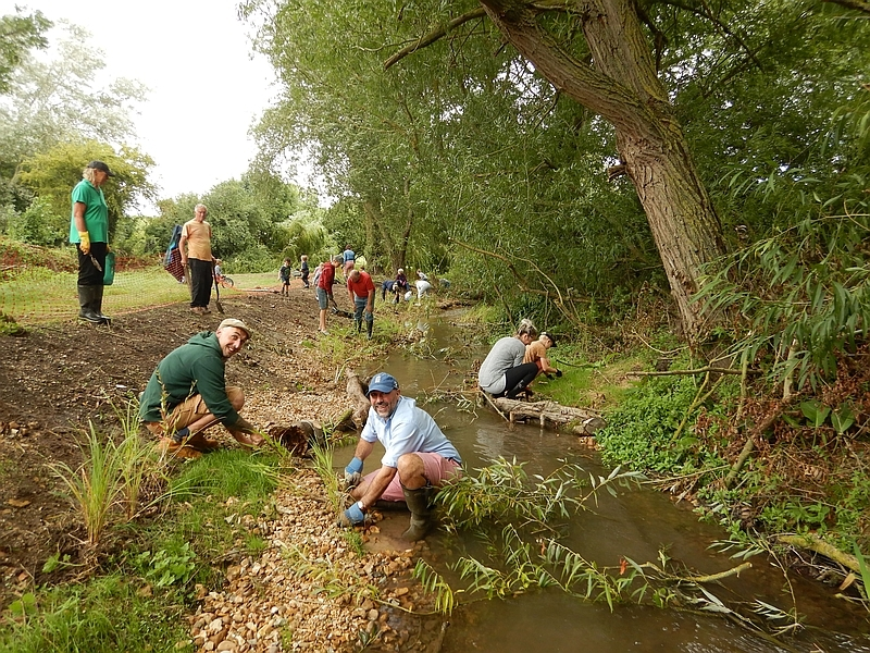 Volunteer planting adds the final touches to improved River Shep