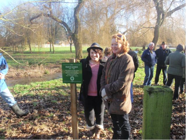 Memorial plaque to Pasco James unveiled at Meonstoke in Hampshire
