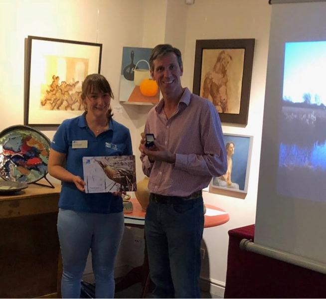 Rob Mungovan receives award from RSPB