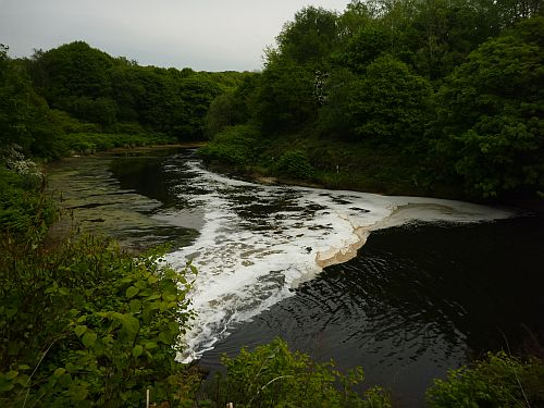 Treated effluent discharge on the River Irwell