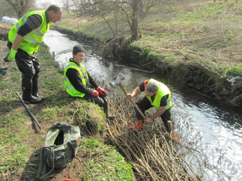 Working on the Lyme Brook