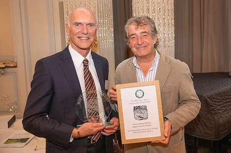 Heb Leman with Tony Juniper