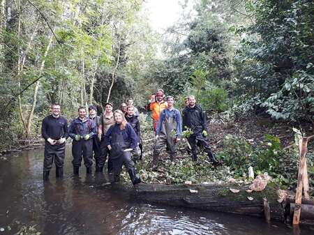 River Habitat Workshop On River Misbourne Comp